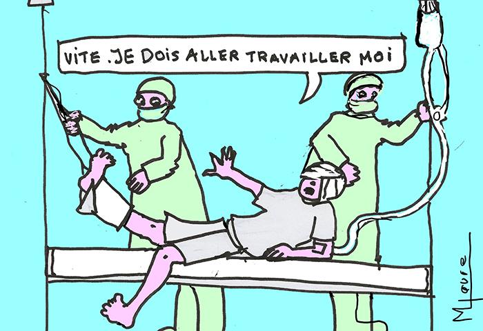 Rester au bureau en cas de maladie : une pratique française néfaste !